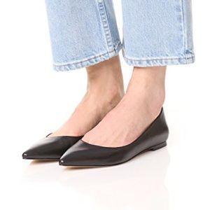 sam edelman / rae black leather point toe flats